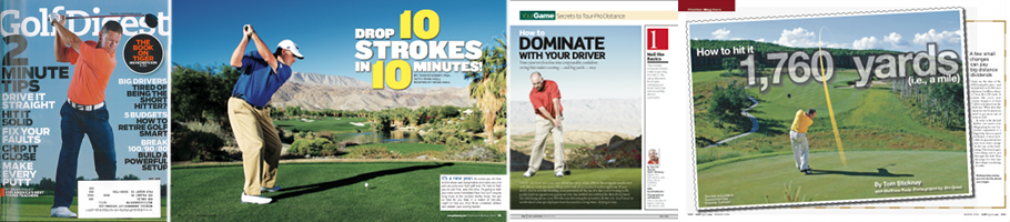 Just a few of my articles in major golf publications